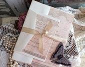 Vintage Wedding Invitation Suite Sample Handmade by avintageobsession on etsy