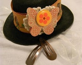 Brown and Orange Owl Hat with Cute Accents