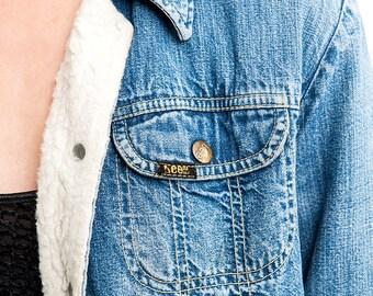 The Vintage Fabric Waist Lee Denim Jacket