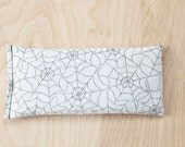 Lavender Aromatherapy Eye Pillow, Relax Recharge Stress Relief Hot Cold Pack, Black White Spider Web