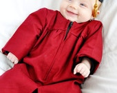 Items similar to CUSTOM COLOR Baby Graduation Cap and Gown (0-3m ...