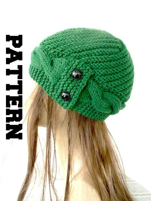 Womens Knit Hat Pattern : Womens Hat Knitting PATTERN PDF Digital Instant Download Knit