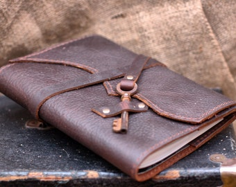 Distressed Leather Journal, Leather Notebook, Travel Journal, Personalized Journal, Gift for Guys