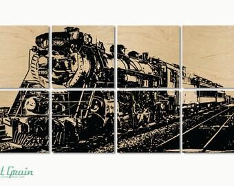 Large Vintage Steam Engine Train Decor - Awesome Gift Idea