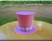 Alice In Wonderland Top Hat Centerpiece - Color Printable PDF- Cheshire Cat - PR