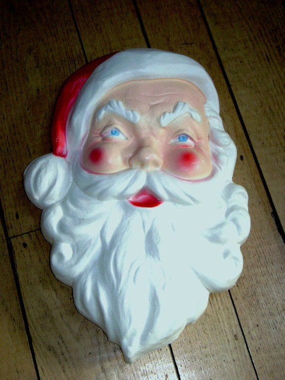 Vintage 60s Santa Face Large Mid Century Outdoor By