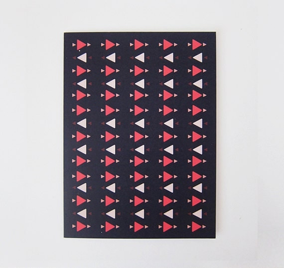 Colorful Triangles Print Greeting Card