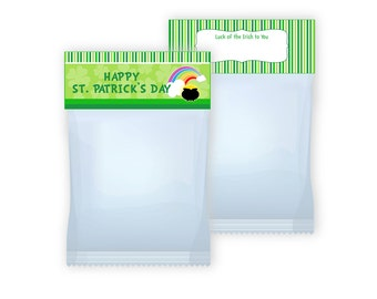 St Patrick's Day Treat Bag Toppers Printable  Digital file