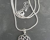 Irish  Warrior Antique Silver Celtic Knot Pendant Necklace-Ireland Necklace