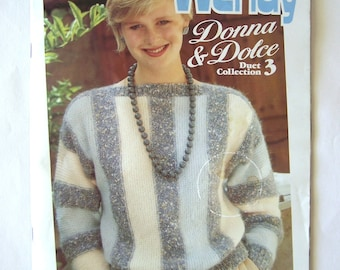 Vintage Knitting and Crochet Wendy Donna & Dolce Duet 3 Pattern book