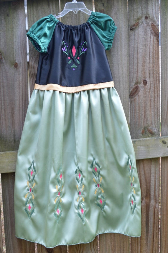 Anna Coronation Dress Frozen Princess By Tootietots On Etsy
