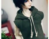 SD17 Boy Basic Sleeveless Hooded - Khaki