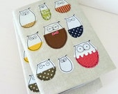 Owls In Woolly Jumpers A5 Notebook