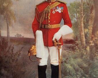 1900, Brigadier-General Douglas Mackinnon Baillie Hamilton, Earl Dundonald, Antique Print, Army 49, Frameable Art