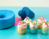 Miniatures Dollhouse Cupcake Mold Flexible Silicone - Food Jewelry Polymer Clay Food Projects