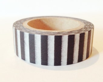 Modern Stripe Washi Tape Black and White Stripes Thick Piano Pattern
