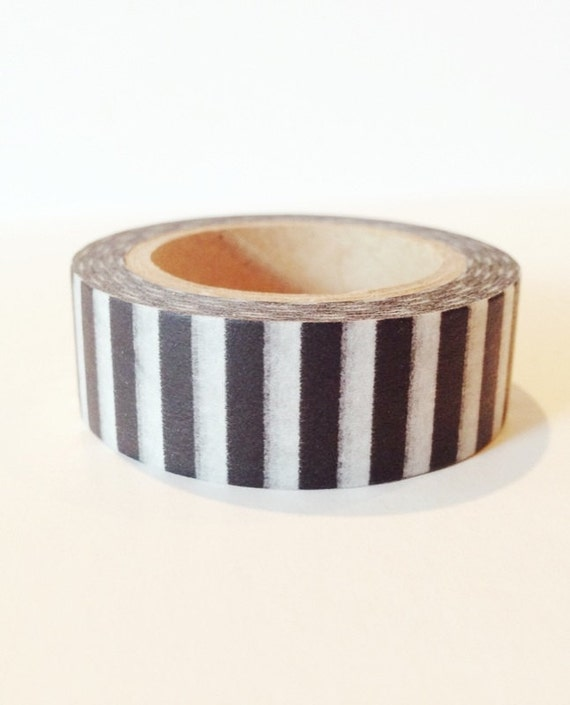 Modern Stripe Washi Tape Black and White Stripes Thick Piano Pattern