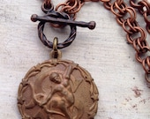 Zodiac Vintage Charm Copper Necklace Sagittarius