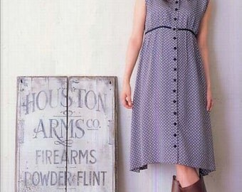 Straight Stitch Simple Dress, Sato Watanabe, Japanese Sewing Pattern Book for Women Clothing, Easy Sewing Tutorial, B243