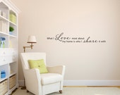 What I love most about my home Wall Decal - Home Quote Decal - Wall Words - Large