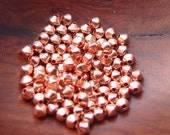 100 pcs 3 mm Copper Bicone Beads