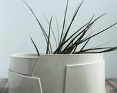 Large Oval Porcelain Planter - Tiered Collection