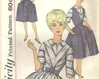 Simplicity 4092 Vintage 60s Sewing Pattern // Dress Size 14 Bust 34
