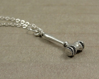 Gavel Necklace, Silver Gavel Charm on a Silver Cable Chain