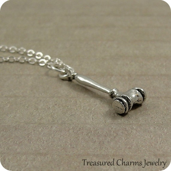 gavel necklace silver gavel charm on a silver cable chain