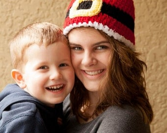 50% (or more) off Sale - Ready to Ship - Baby through Adult Sizes - Santa Belt Hat