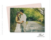 "wedding thank you photo card - ""Swirl"""