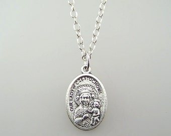 Our Lady of Czestochowa Medal Necklace