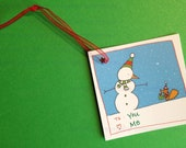 Snowman and Squirrel Gift Tags (Set of 6)