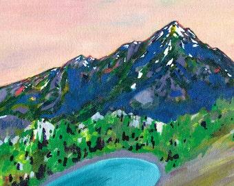 Hope Ridge // 8 x 10 eco-friendly wall art mountain print