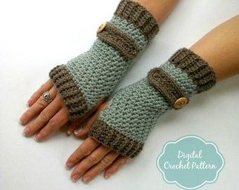 Fingerless Gloves Crochet Pattern No.916 Digital Download uses DK weight yarn