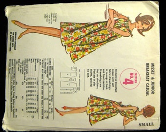 Vintage 60s McCalls Quaker Oats Breakfast Casual Dress Pattern No 4, Small,  UC & FF