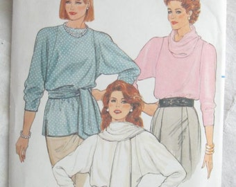 Butterick 3023 Womens Cowl Neck Easy Sew Blouse Vintage Sewing Pattern Bust 38