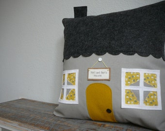 Bumble Bee Road House Pillow - Pillow Cover - Housewarming Gift - Personalize