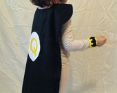 Batgirl/Batboy Custom Personalized Superhero Set- Cape and Wristcuffs