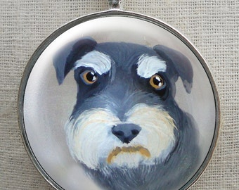 Schnauzer Keychain ~ Pet Keepsake ~ Gifts Under 15 ~ Dog Keychain ~ April Birthday ~ Gifts for Her ~ Dog Dad Gift