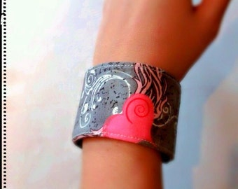 Cuff Bracelet Fabric Jewelry Wrist Cuff Wristband for Her Heart Bracelet Gift for Her Adjustable Band
