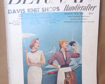 Vintage 50's 60's Knit Pattern Books, Set of Three, Knit Patterns for Women,  Men, Dresses, Sweaters