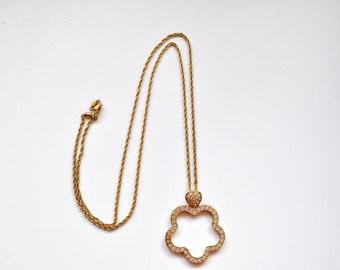 Swarovski Crystal Quatrafoil Necklace