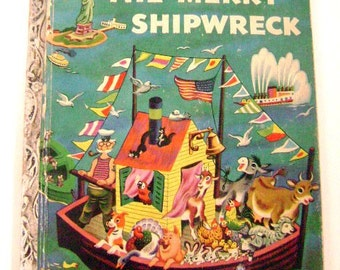 "Vintage Golden Book First Addition Little Golden Book ""A"" edition  #170- ""The Merry Shipwreck"""