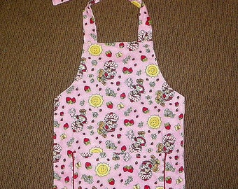 Kids Lined A Style Apron Strawberry Shortcake