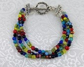 Colorful Bracelet - Multi Color Bracelet - Multi Strand Bracelet - 3 Strand Bracelet - Boho Bracelet