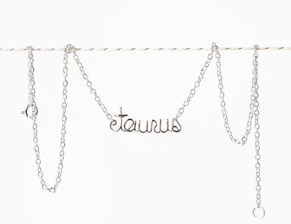 Taurus Necklace - Zodiac Bracelet