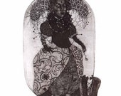 Etching 'Paola' - limited edition original etching (printmaking / graphic art)/original etching/original print/original art/woman art