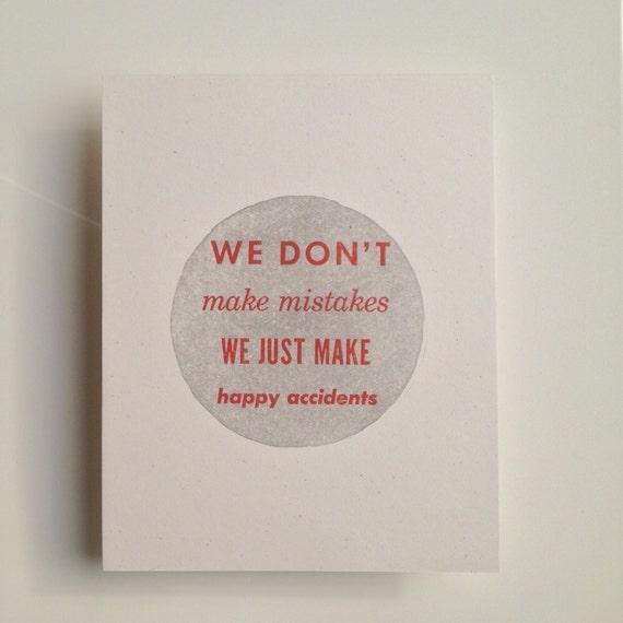 Inspirational Quote Letterpress Print Bob Ross