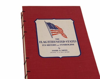 1941 USA FLAG Vintage Notebook Journal